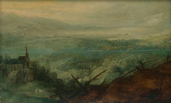Joos de Momper ml. – Pohľad na krajinu s kostolom