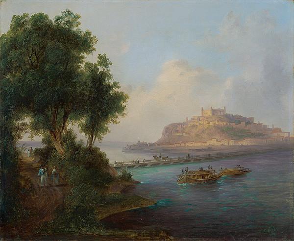 Karol Marko st. - Pohľad na Bratislavský hrad z Petržalky