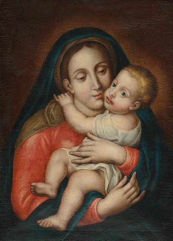 Stredoeurópsky maliar z konca 18. storočia - Madona s dieťaťom