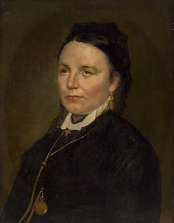 Stredoeurópsky autor z 2. polovice 19. storočia – Portrét dámy so zlatými hodinkami