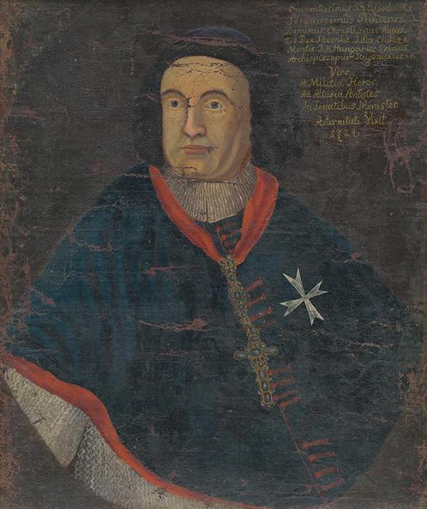 Stredoeurópsky maliar z 18. storočia – Portrét kardinála Christiána Augusta Saského