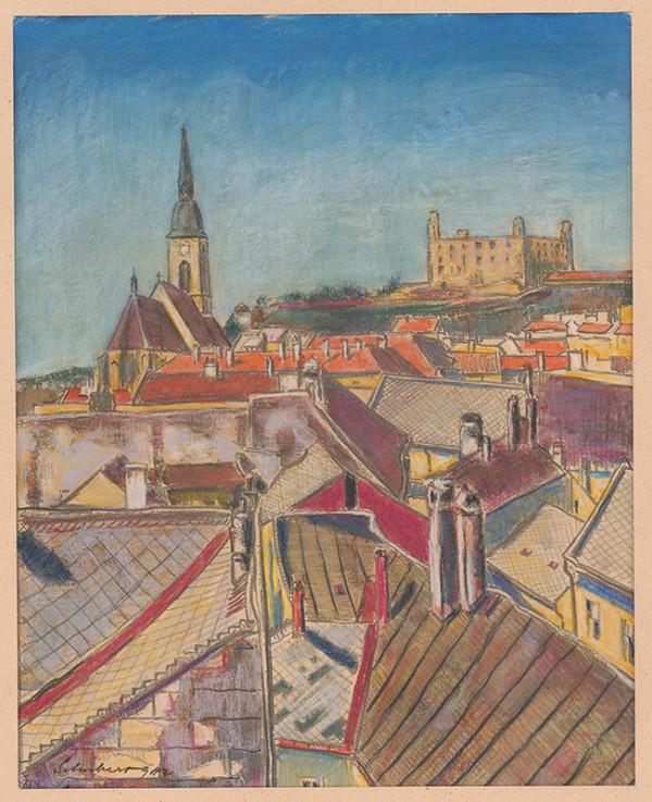Július Schubert – Bratislava - strechy domov