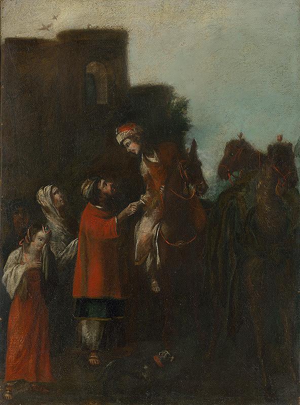 Stredoeurópsky maliar z 18. storočia - Márnotratný syn - lúčenie s rodičmi