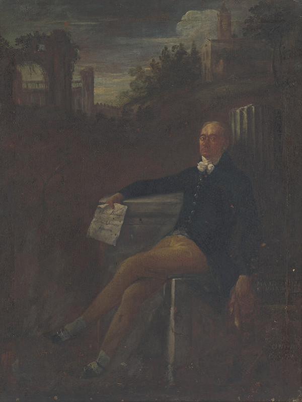 Stredoeurópsky maliar z konca 18. storočia – Portrét muža v krajine
