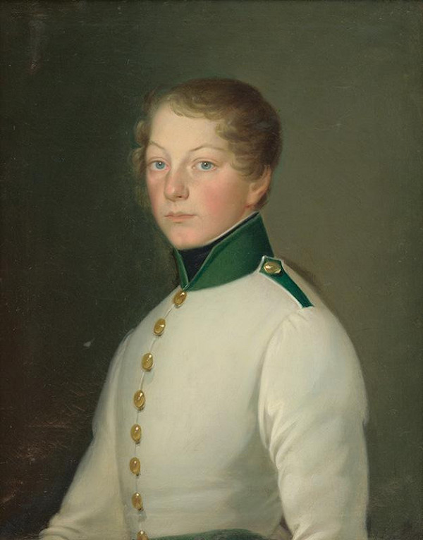 Constantin Daniel - Portrét Wilhelma von  Lebzeltern ml.