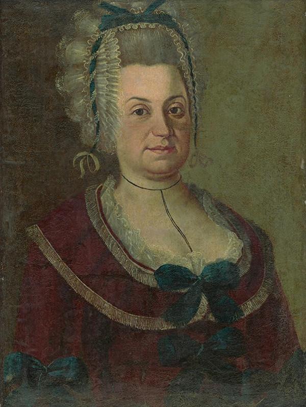 Stredoeurópsky autor z 19. storočia - Portrét dámy v čepci