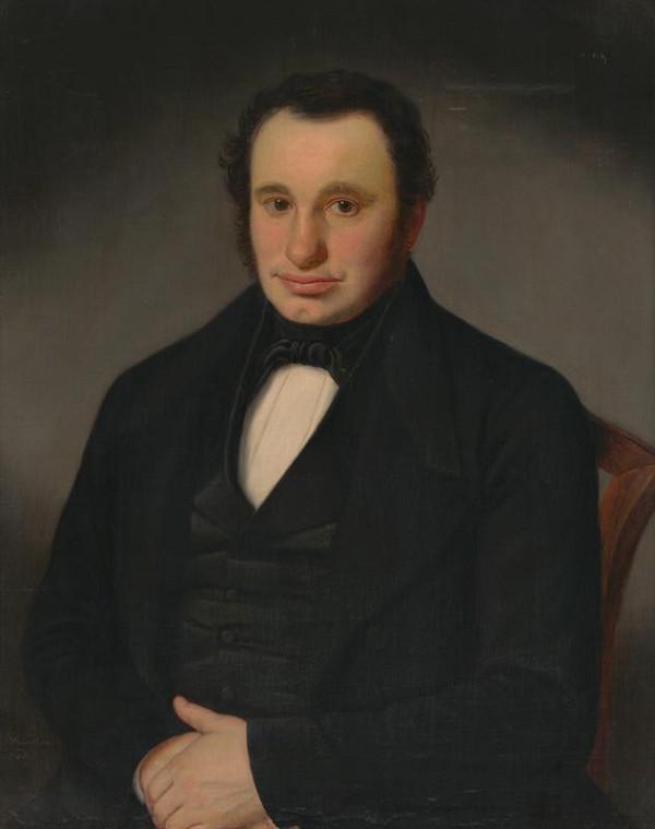 B. Fischer - Portrét neznámeho muža