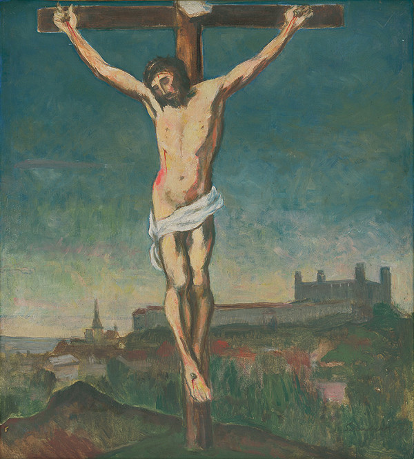 Július Schubert – Kristus na kríži