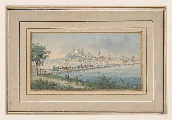 Balthasar Wigand – Pohľad na Bratislavu z Petržalky
