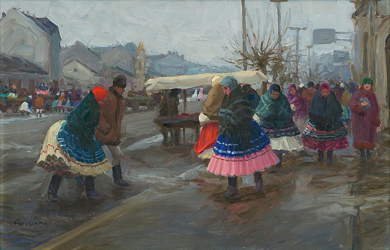 Jozef Theodor Mousson – Trh v Michalovciach, 1922, Galéria mesta Bratislavy