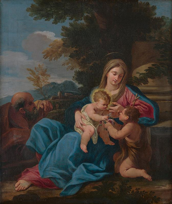 Leonardo Corona, Carlo Maratta - Svätá rodina s Jánom Krstiteľom