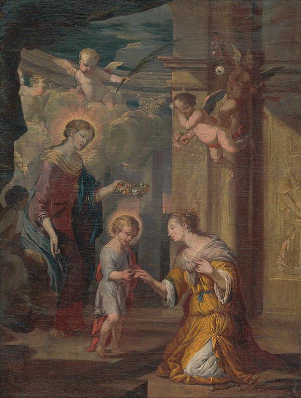 Stredoeurópsky maliar po polovici 18. storočia - Mystické zasnúbenie svätej Kataríny