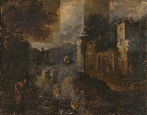 Severotaliansky maliar z 18. storočia – Romantická krajina