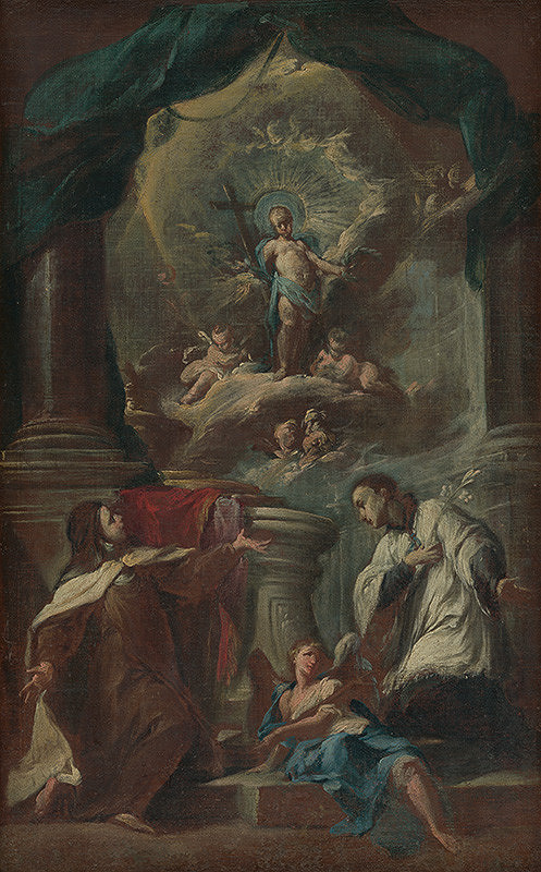 Franz Anton Palko, Franz Xaver Carl Palko, Stredoeurópsky autor z polovice 18. storočia - Svätá Terézia a svätý Alojz Gonzaga