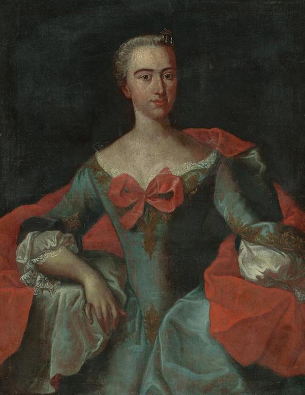 Stredoeurópsky autor z 2. polovice 18. storočia – Portrét šľachtičnej