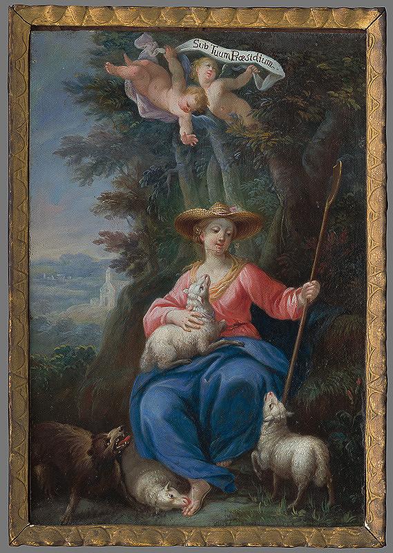 Stredoeurópsky maliar z 2. polovice 18. storočia - Panna Mária ako dobrá pastierka