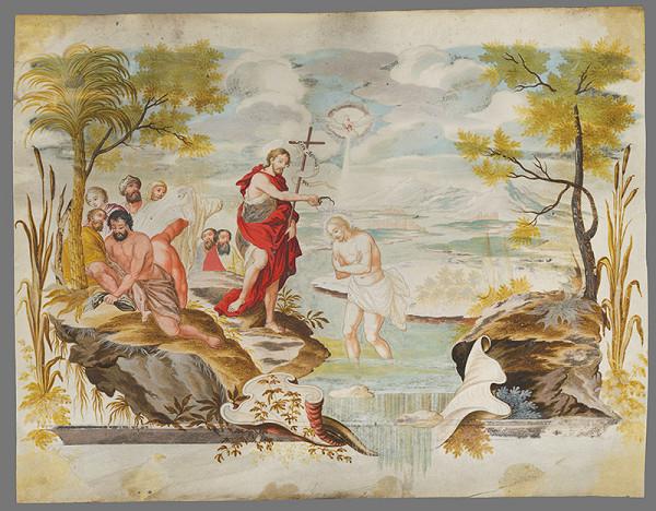 Stredoeurópsky maliar z 2. polovice 18. storočia – Krst Krista v Jordáne