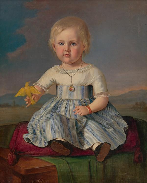 Carl Teibler - Portrét dievčaťa s kanárikom