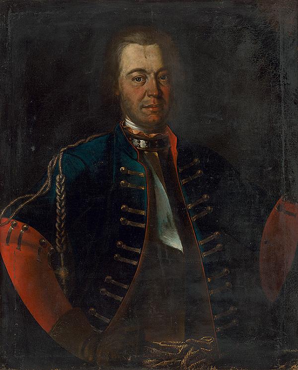 Stredoeurópsky maliar po polovici 18. storočia - Portrét muža vo vojenskom odeve