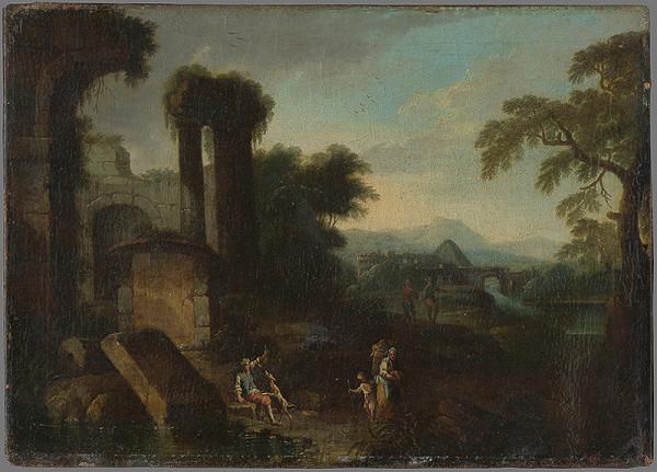 Jan Frans van Bloemen, Maximilian Joseph Schinnagl - Krajina s antickými ruinami I.