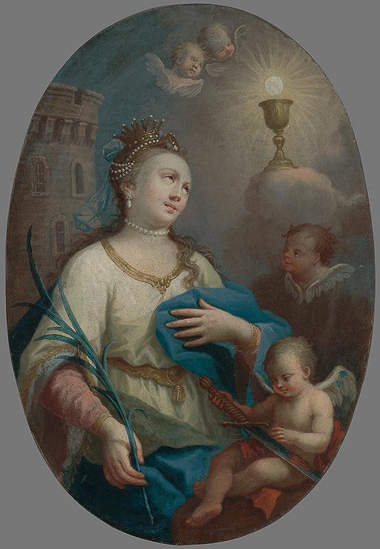 Bratislavský maliar z 2. polovice 18. storočia - Svätá Barbora