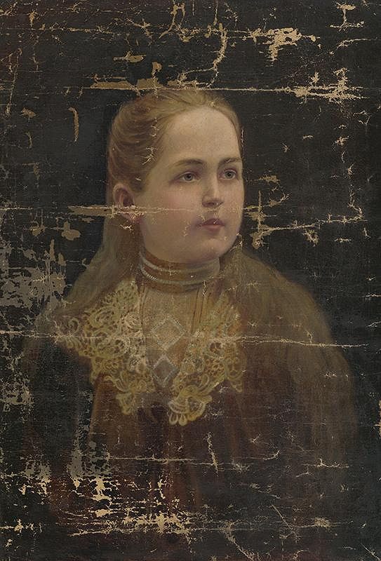 Neznámy autor - Portrét dievčaťa
