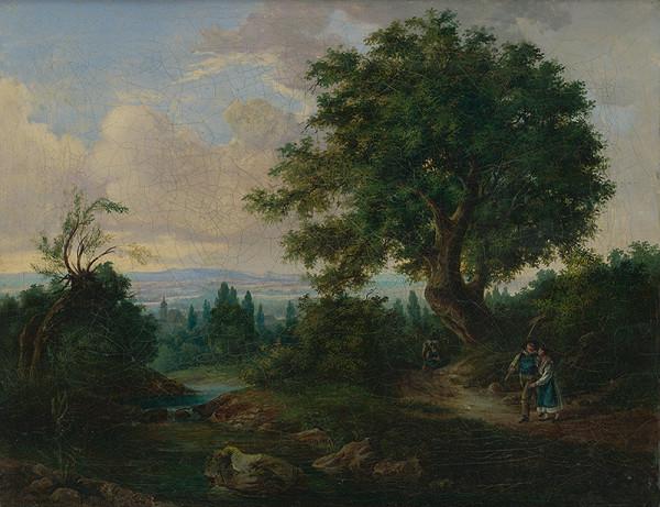 Stredoeurópsky maliar - Krajina so sedliackym párom