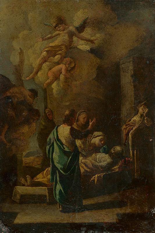 Stredoeurópsky autor z polovice 18. storočia – Vzkriesenie syna naimskej vdovy