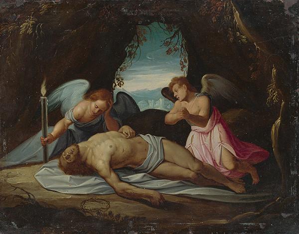 Stredoeurópsky autor z 2. polovice 18. storočia - Oplakávanie Krista anjelmi