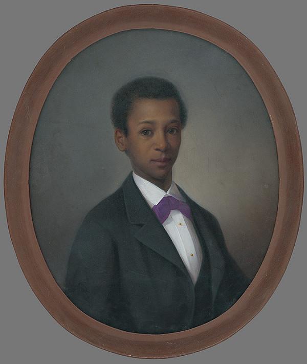 Carl Teibler - Portrét černošského chlapca