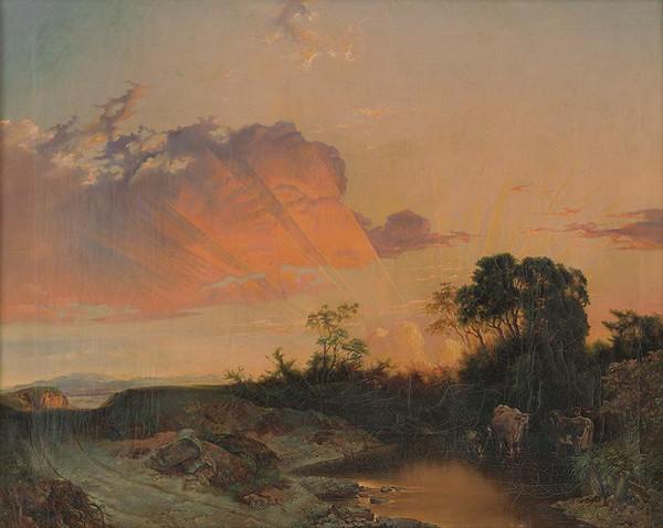 Stredoeurópsky maliar z 2. polovice 19. storočia – Západ slnka