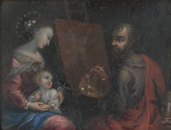 Stredoeurópsky autor z 18. storočia – Svätý Lukáš maľuje Pannu Máriu
