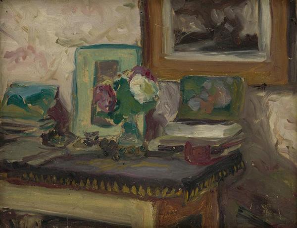 Ľudovít Pitthordt - Interiér sa stolom