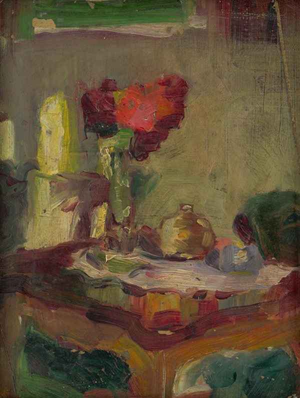 Ľudovít Pitthordt - Zátišie na stole