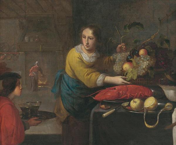 Flámsky maliar z 1. polovice 17. storočia - Príprava obeda