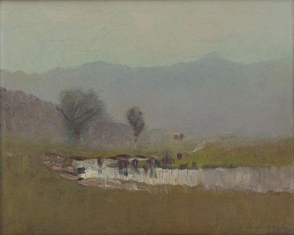 Ladislav Mednyánszky – Horská krajina s potokom