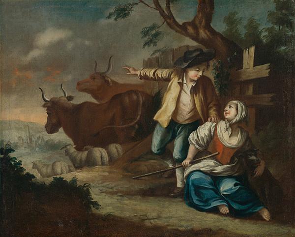 Stredoeurópsky maliar z 2. polovice 18. storočia - Pastieri dobytka
