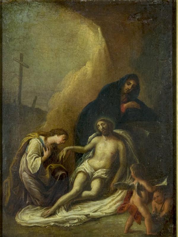 Slovenský maliar z 1. polovice 18. storočia - Oplakávanie Krista