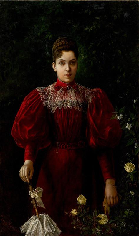Eduard Majsch – Portrét slečny Mimi Majschovej