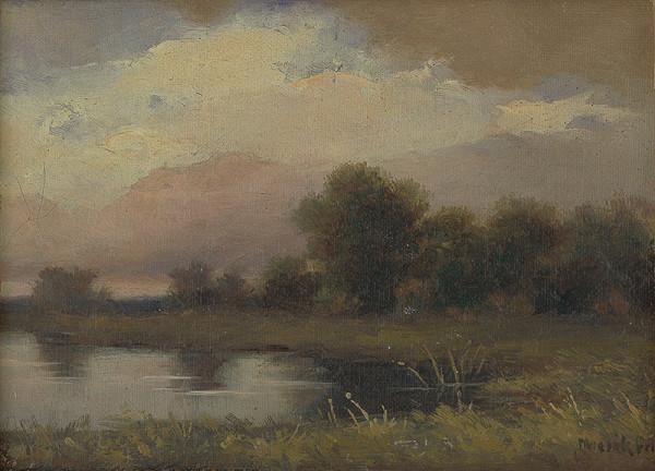 Felicián Moczik – Krajina s rybníkom