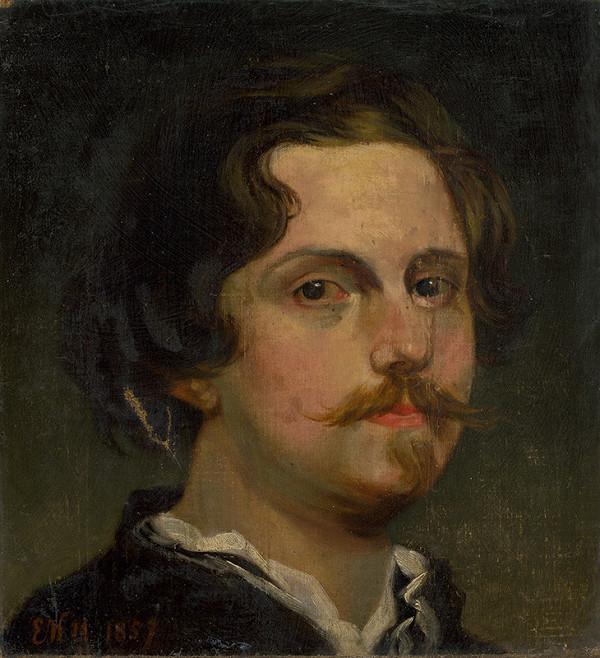 E.K. Monogramista - Portrét mladého muža
