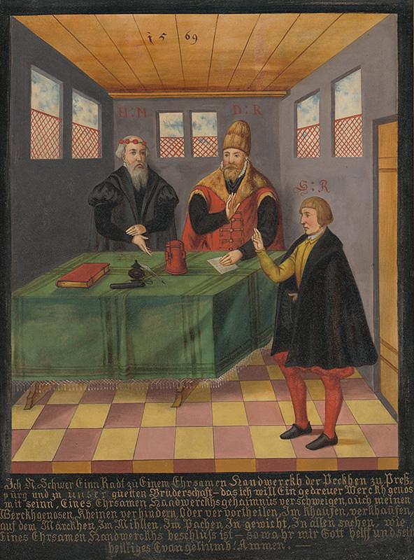 Eduard Majsch - Prijímanie do cechu pekárov