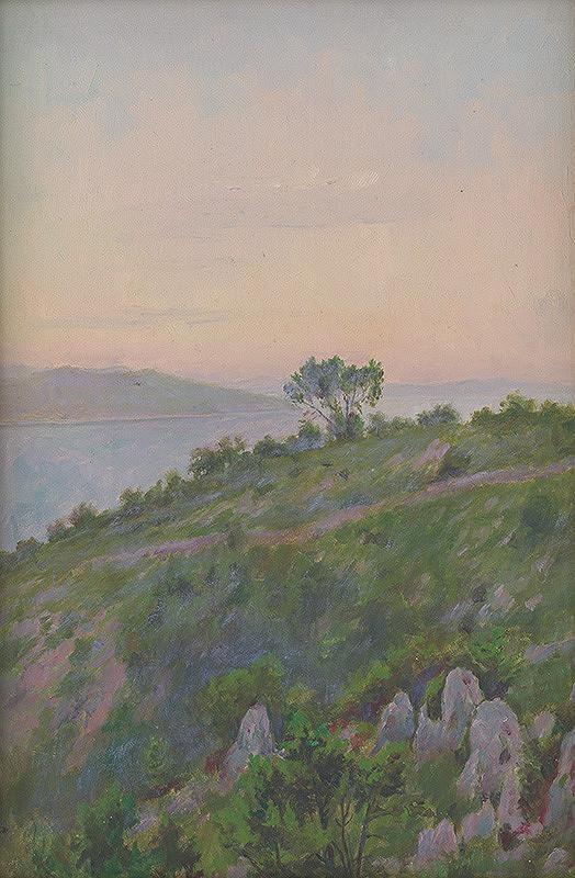 Dezider Czölder – Skalný breh so stromami
