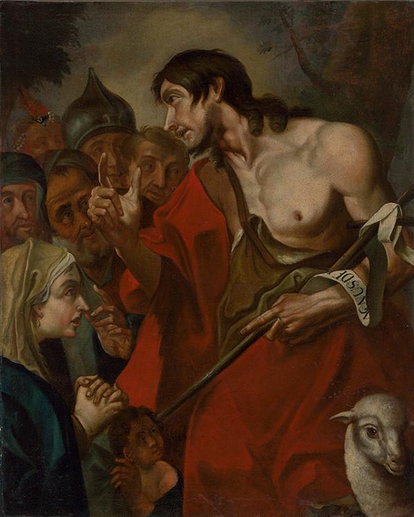 Stredoeurópsky autor z 18. storočia, Giovanni Battista Pittoni – Kázanie Jána Krstiteľa