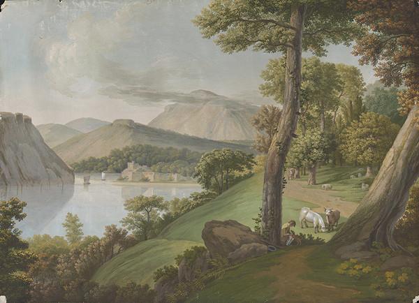 Stredoeurópsky maliar z 1. štvrtiny 19. storočia – Krajina s jazerom