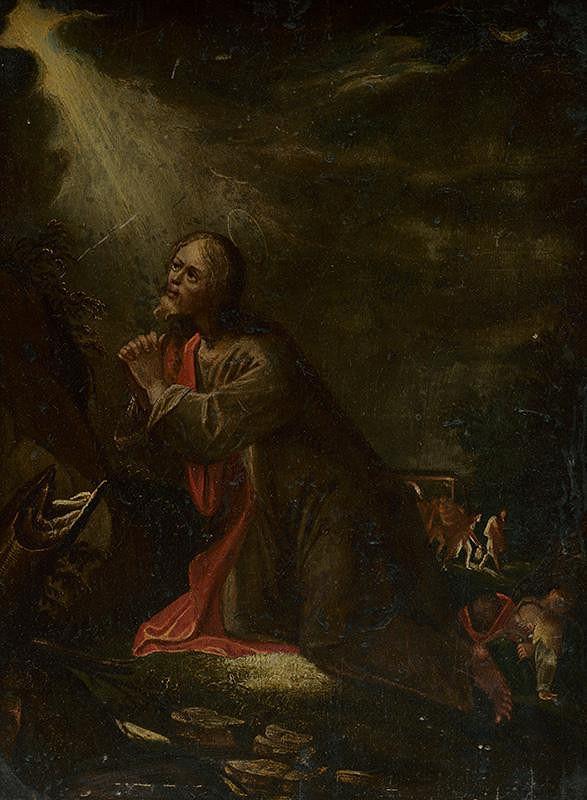 Nemecký maliar zo 17. storočia – Kristus na Olivovej hore