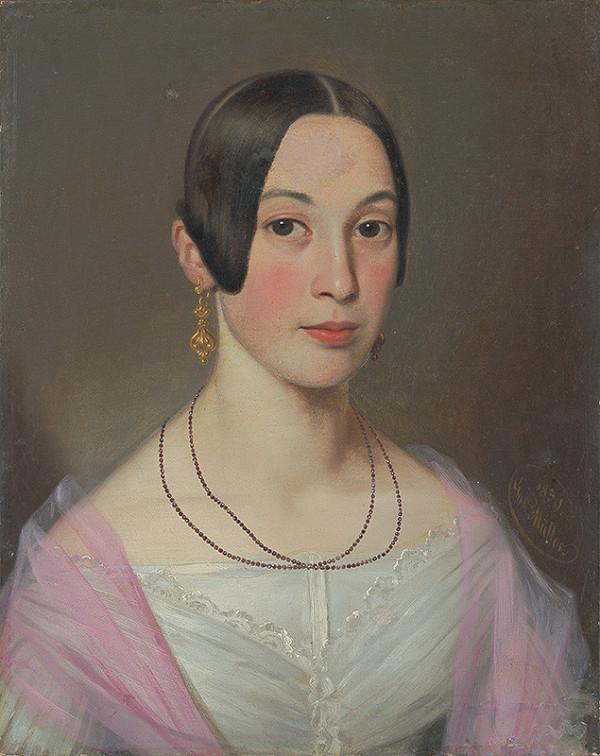 Gustav Adolf Müller - Portrét Rozálie Ederovej