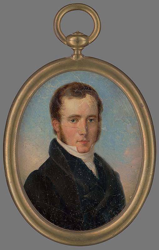 Stredoeurópsky maliar z 2. štvrtiny 19. storočia – Portrét neznámeho muža