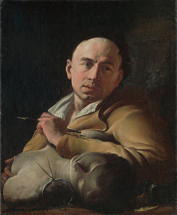 Paul Troger - Portrét sochára Georga Raphaela  Donnera