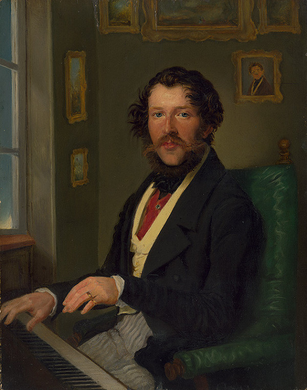 Stredoeurópsky maliar z 1. polovice 19. storočia, Friedrich Johann Gottlieb Lieder - Portrét Antona Michala Pakha
